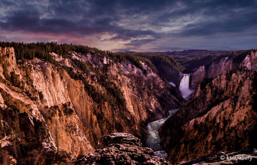 Lower Falls with Sunset